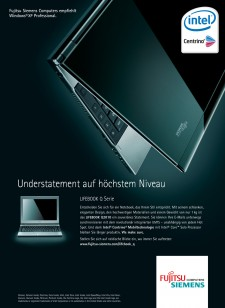 Kunde FUJITSU SIEMENS COMPUTERS  / Agentur RED / Projekt ANZEIGE, BOSCHÜRE, MESSEWAND - LIFEBOOK Q  / Job BILDRETUSCHE, COLORMATCHING, COMPOSING